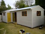 (A) Nutec Wendy House Stusio with domestic Quarter