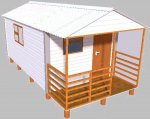 Wendy HOUSE 3m x 4.8m with Porch